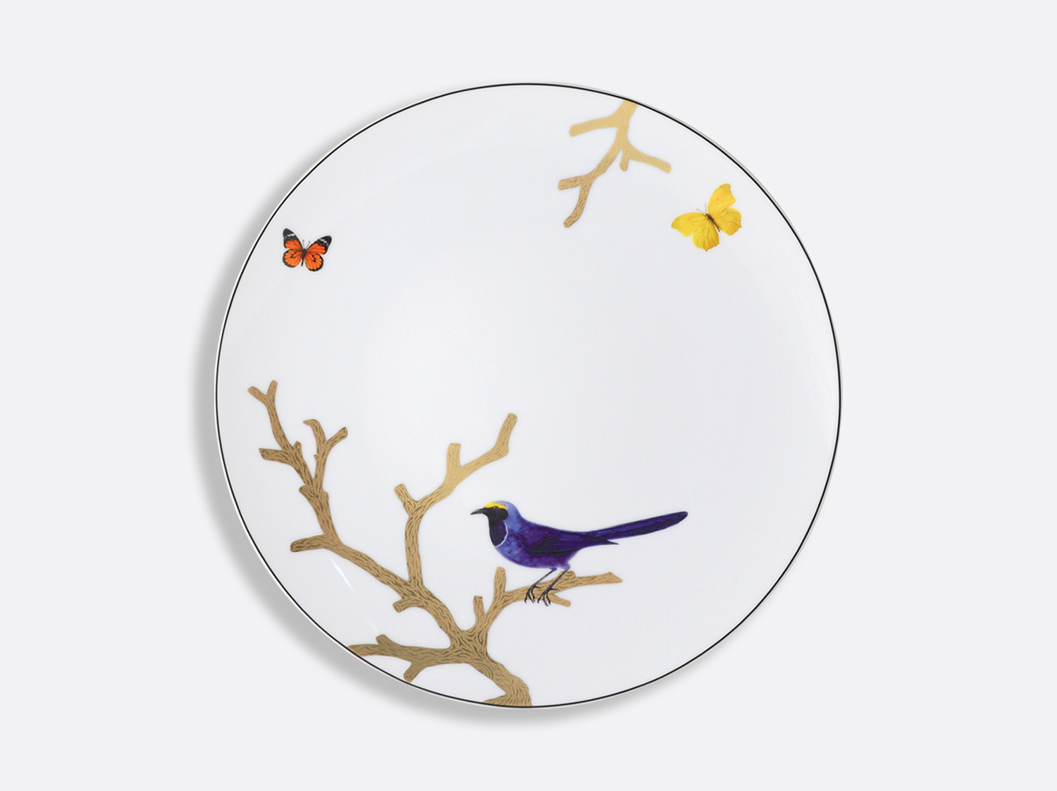 China ディナープレート 26cm  of the collection Aux oiseaux | Bernardaud