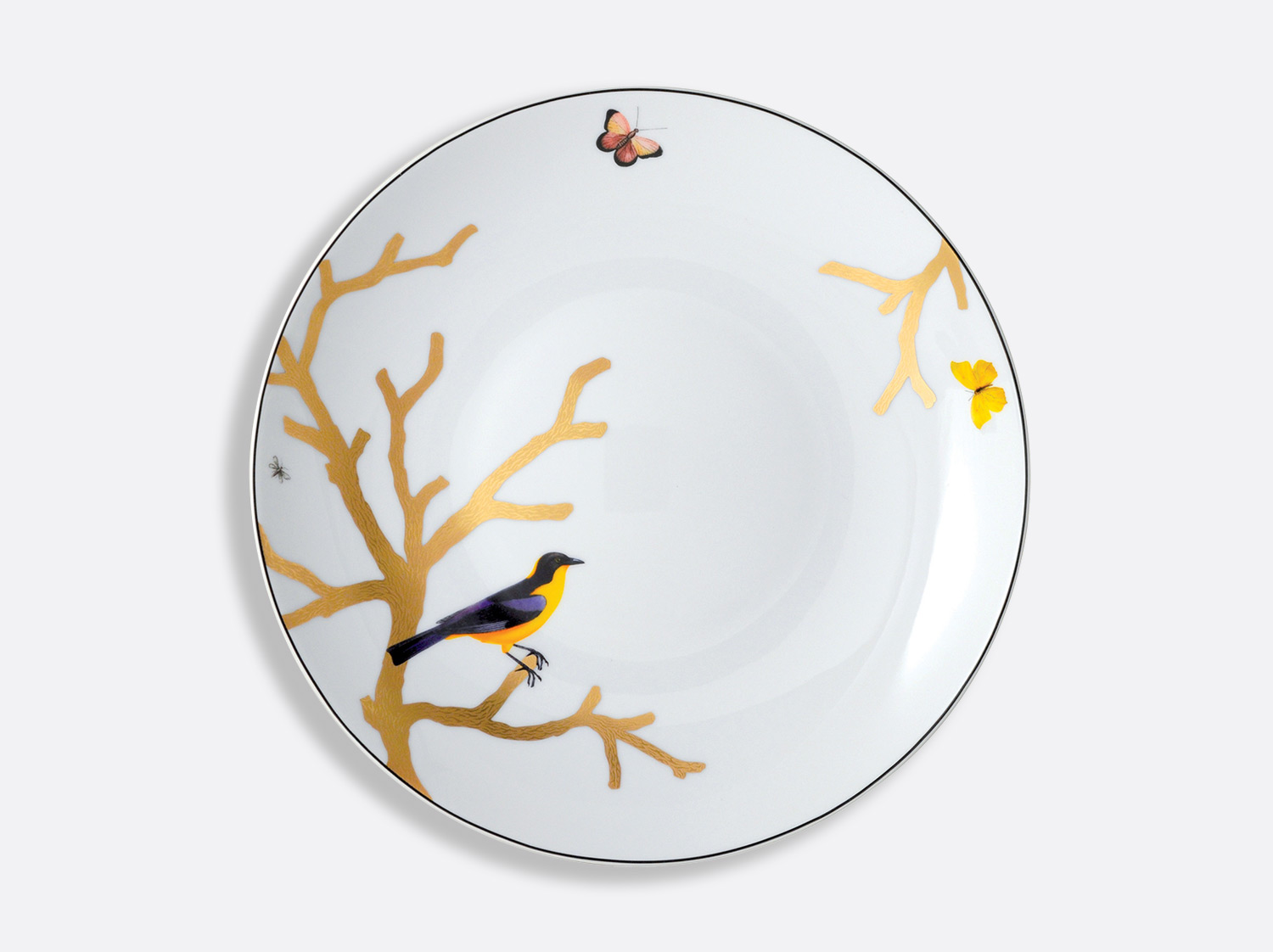 "China Deep round dish 11.5"" of the collection Aux oiseaux 