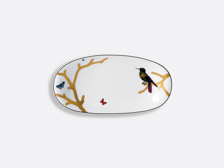 China Relish dish 23 cm x 12 cm of the collection Aux oiseaux | Bernardaud