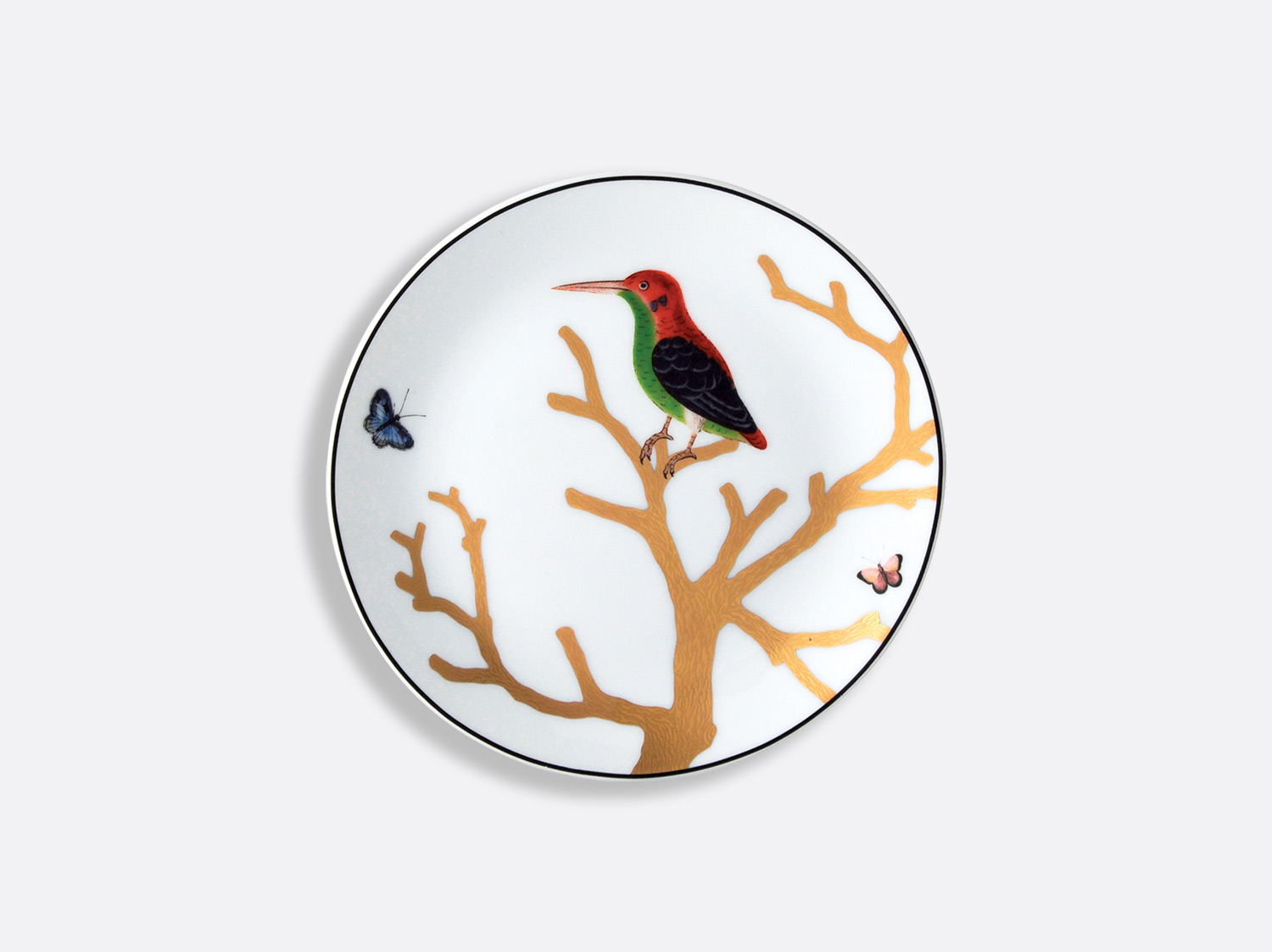 China Bread and butter plate 14 cm of the collection Aux oiseaux   Bernardaud