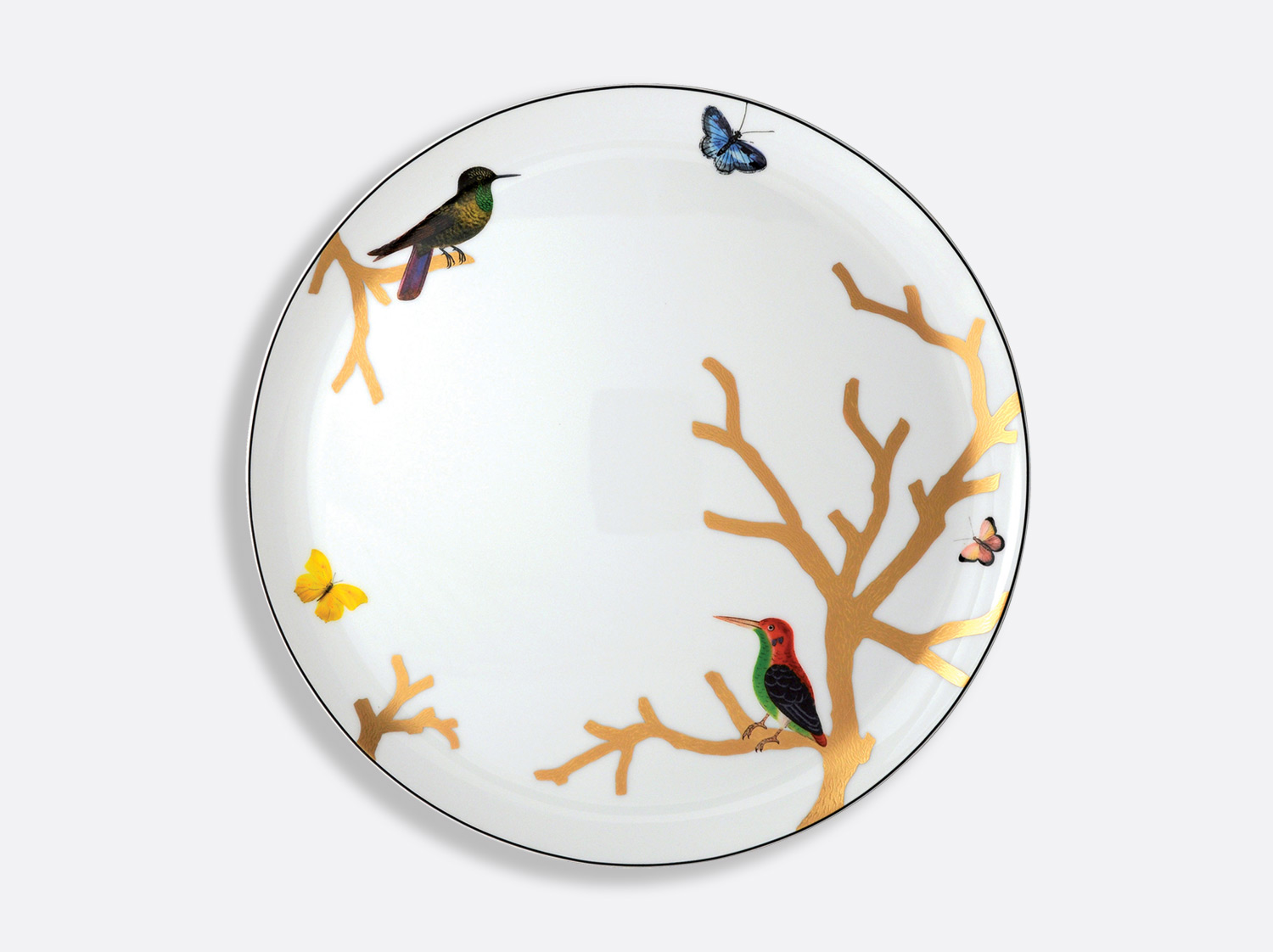 China Tart platter - round 32 cm of the collection Aux oiseaux | Bernardaud
