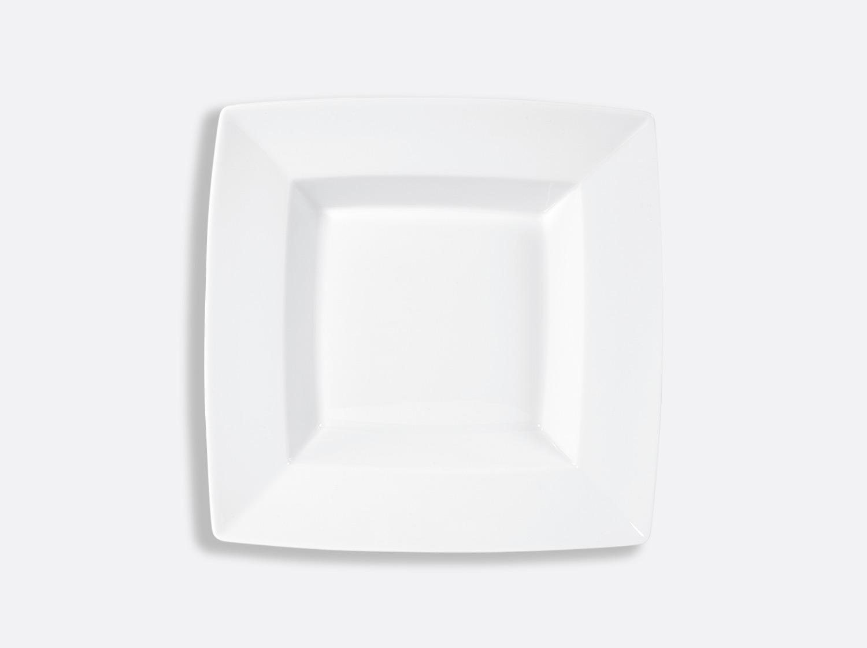 Assiette creuse carrée 19 x 19 cm en porcelaine de la collection Fusion Bernardaud