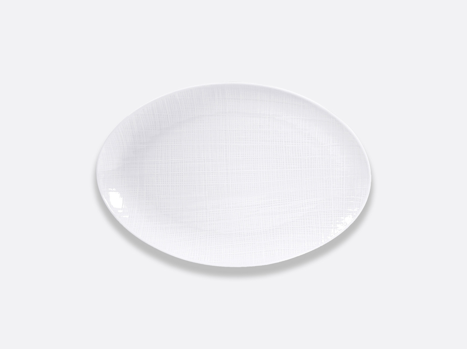China Oval platter 38 cm of the collection Organza | Bernardaud