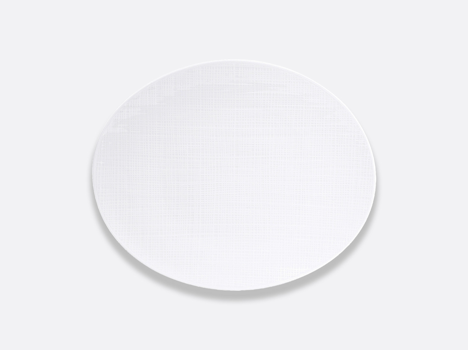 Assiette ovale 32 cm en porcelaine de la collection Organza Bernardaud
