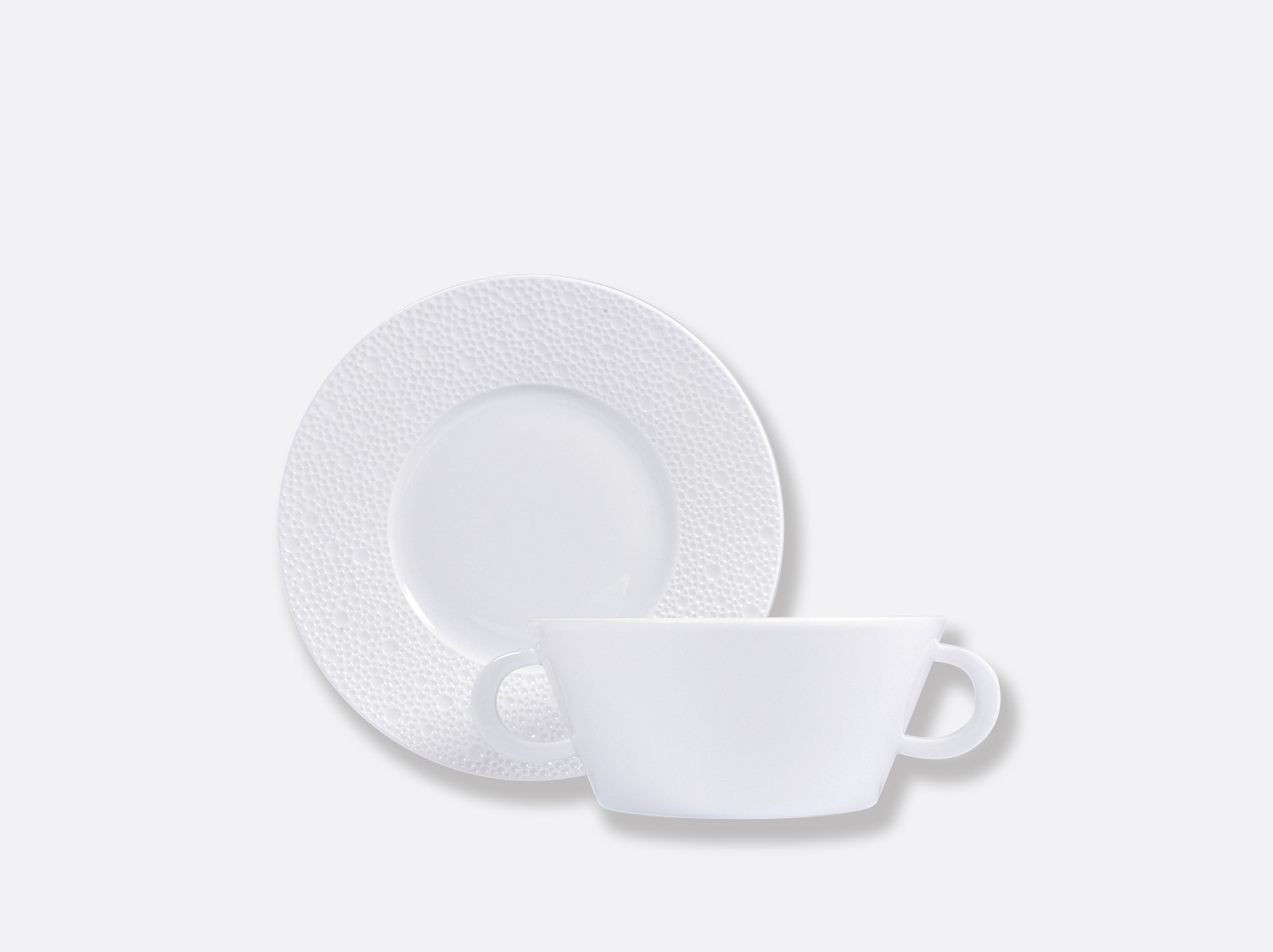 China Cream cup and saucer 25 cl of the collection Ecume | Bernardaud