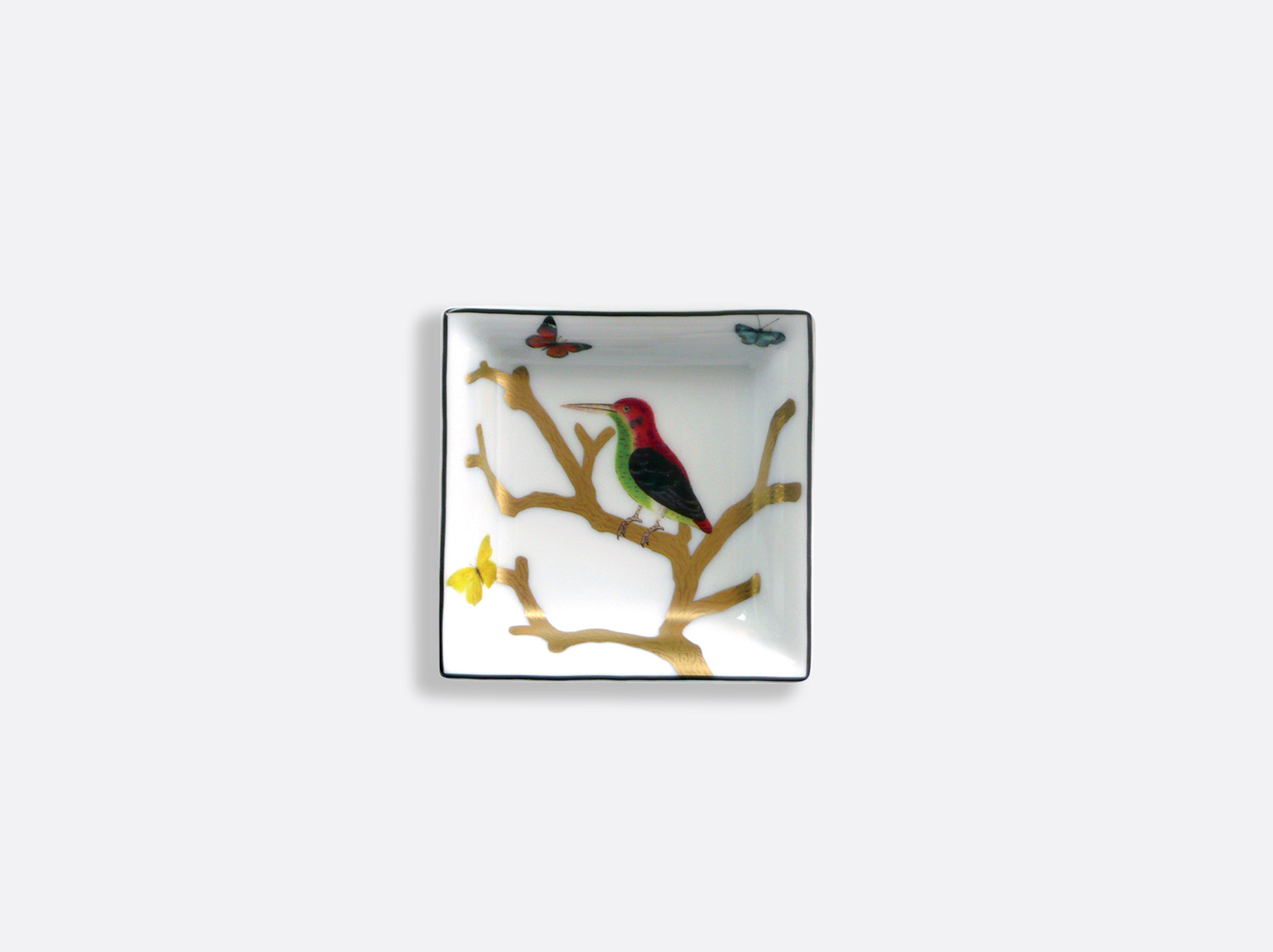 China Small square dish 8 cm x 8 cm of the collection Aux oiseaux | Bernardaud