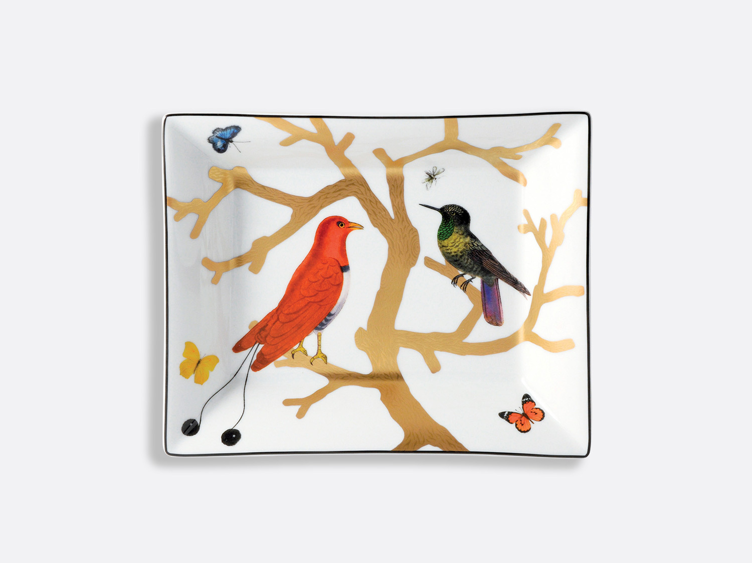 China Valet tray 20 cm x 16 cm of the collection Aux oiseaux | Bernardaud