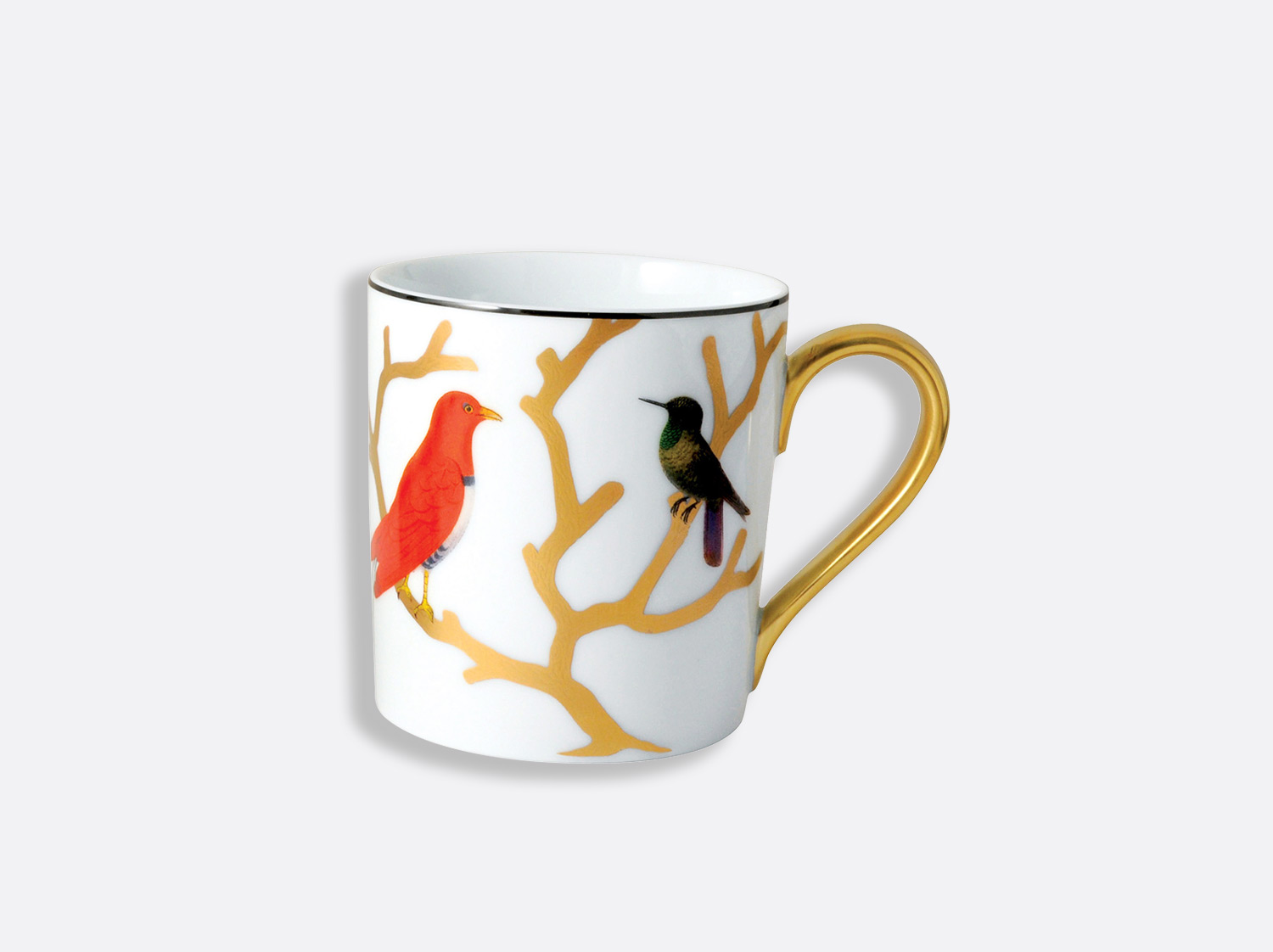 Mug 30 cl en porcelaine de la collection Aux oiseaux Bernardaud