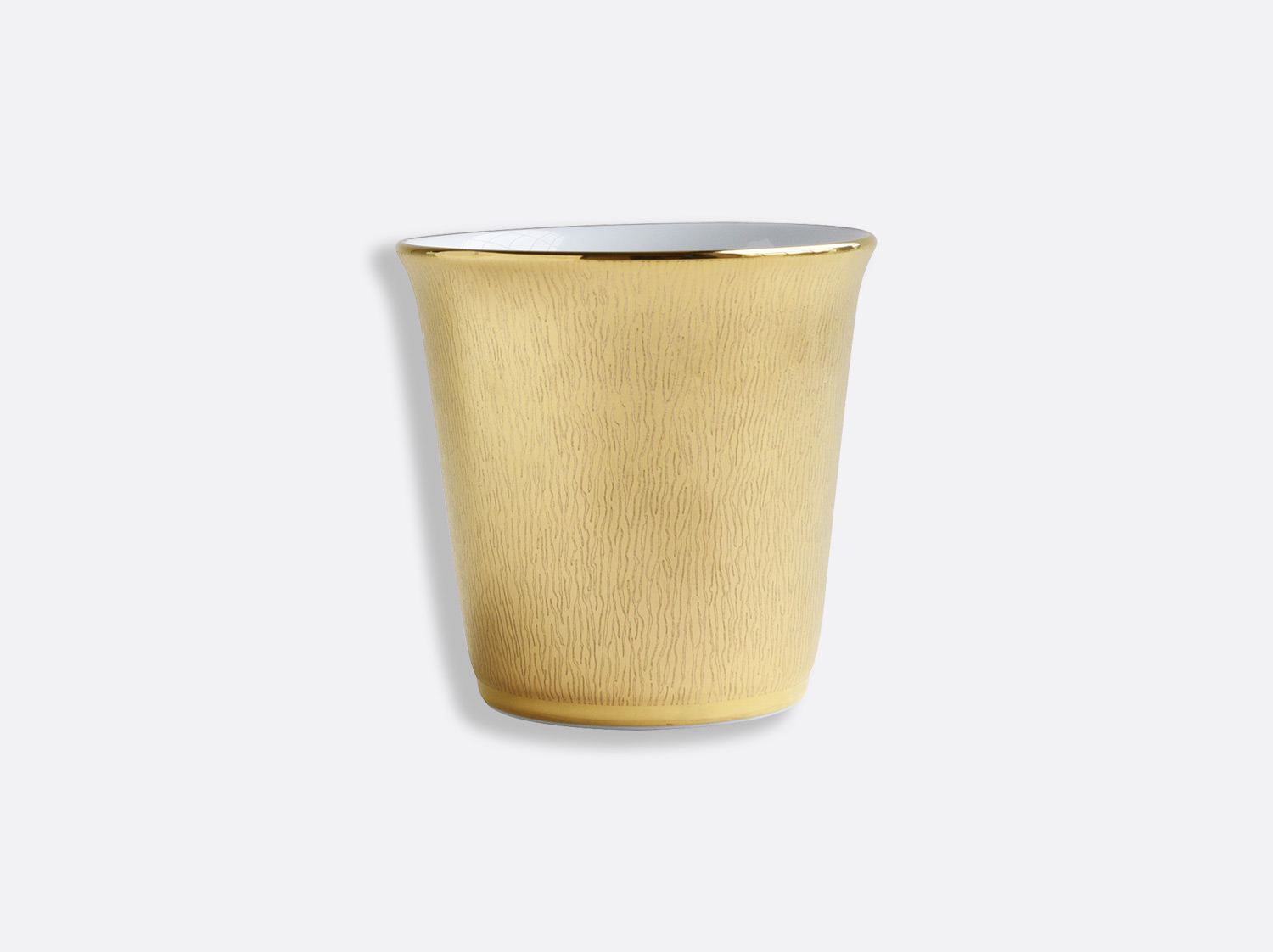 Pot 9 cm + bougie parfumée 200g en porcelaine de la collection Dune Or - pot Bernardaud