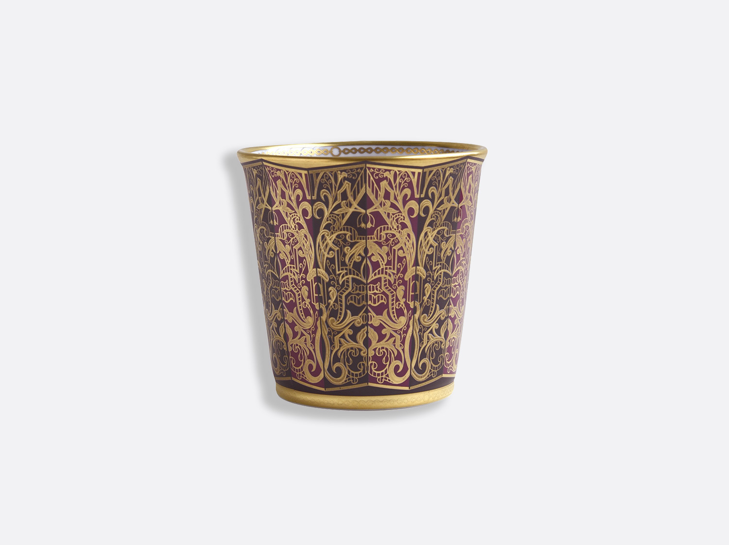 Pot 9 cm + bougie parfumée 200g en porcelaine de la collection Eventail Bernardaud