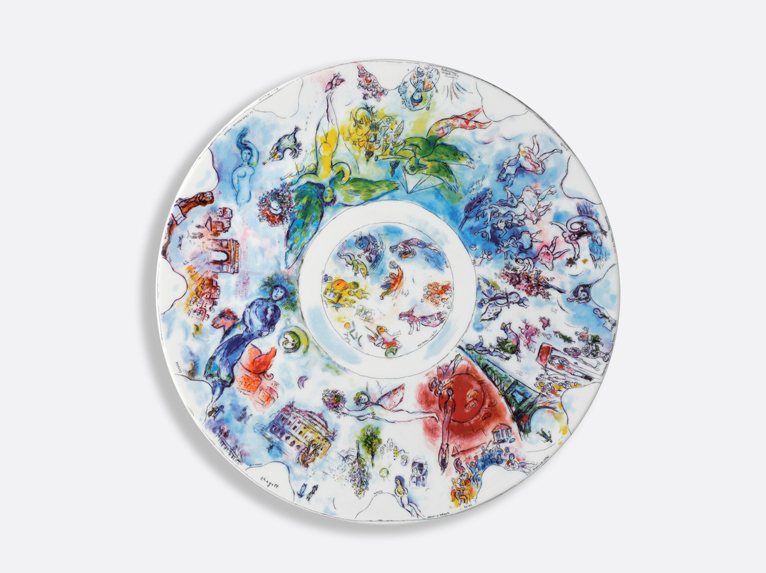 "Grande coupe 36 cm ""La Coupole de l'Opéra Garnier"" en porcelaine de la collection Collection Marc chagall Bernardaud"