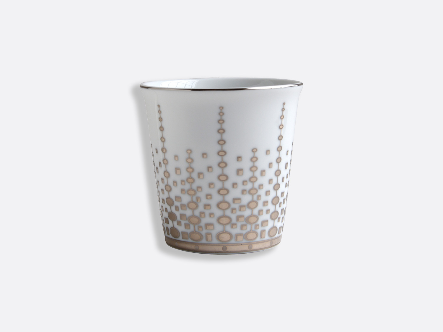 Pot 9 cm + bougie parfumée 200g en porcelaine de la collection Or Azur Bernardaud