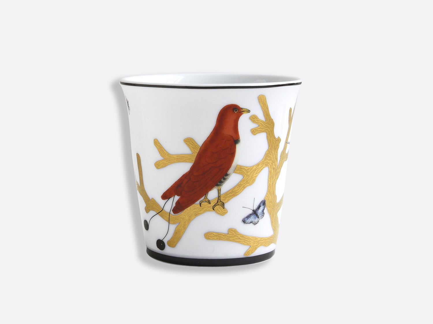 Pot 9 cm + bougie parfumée 200g en porcelaine de la collection Aux oiseaux - pot Bernardaud