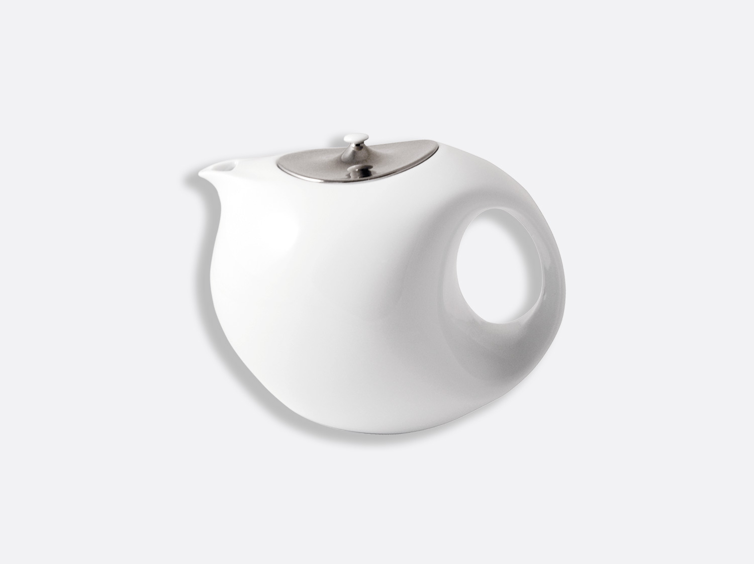 Théière platine 8 tasses 90 cl en porcelaine de la collection Bulle platine Bernardaud