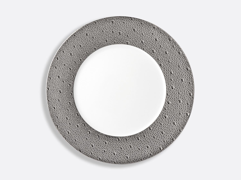 Assiette plate 29,5 cm en porcelaine de la collection Ecume platine Bernardaud
