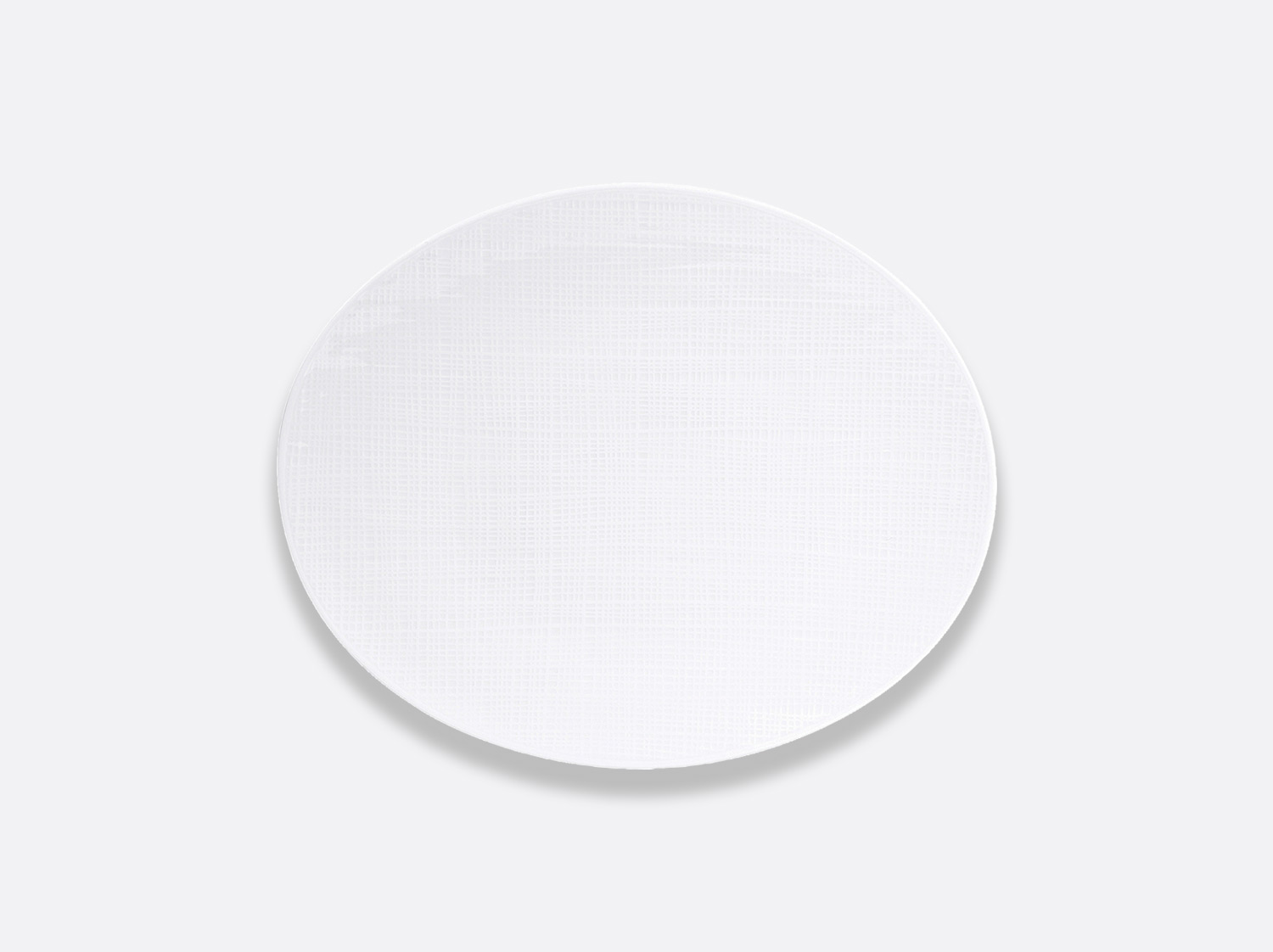 Assiette ovale 25 cm en porcelaine de la collection Organza Bernardaud