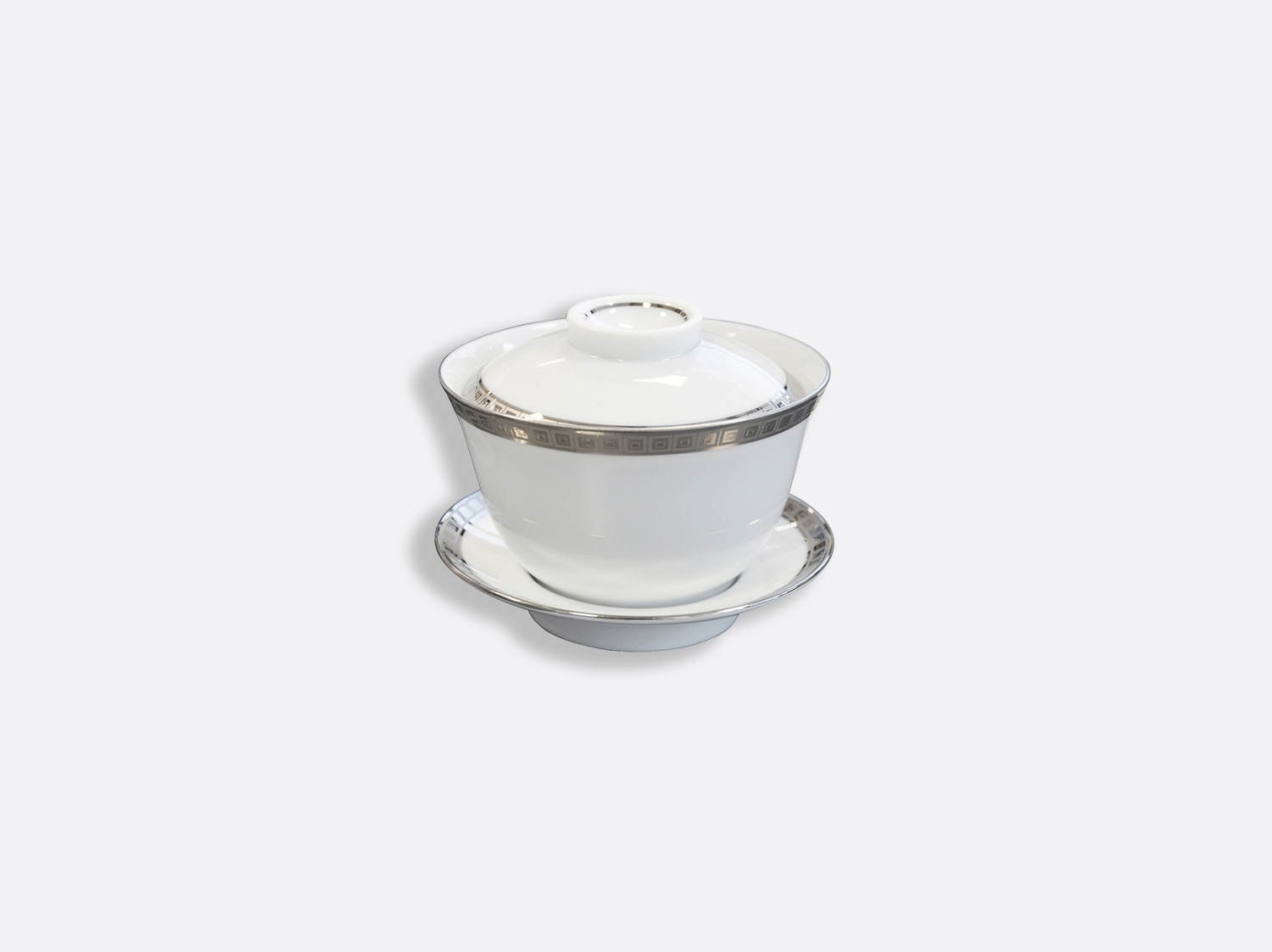 China Small covered cup 10 cl of the collection Athéna platinum | Bernardaud
