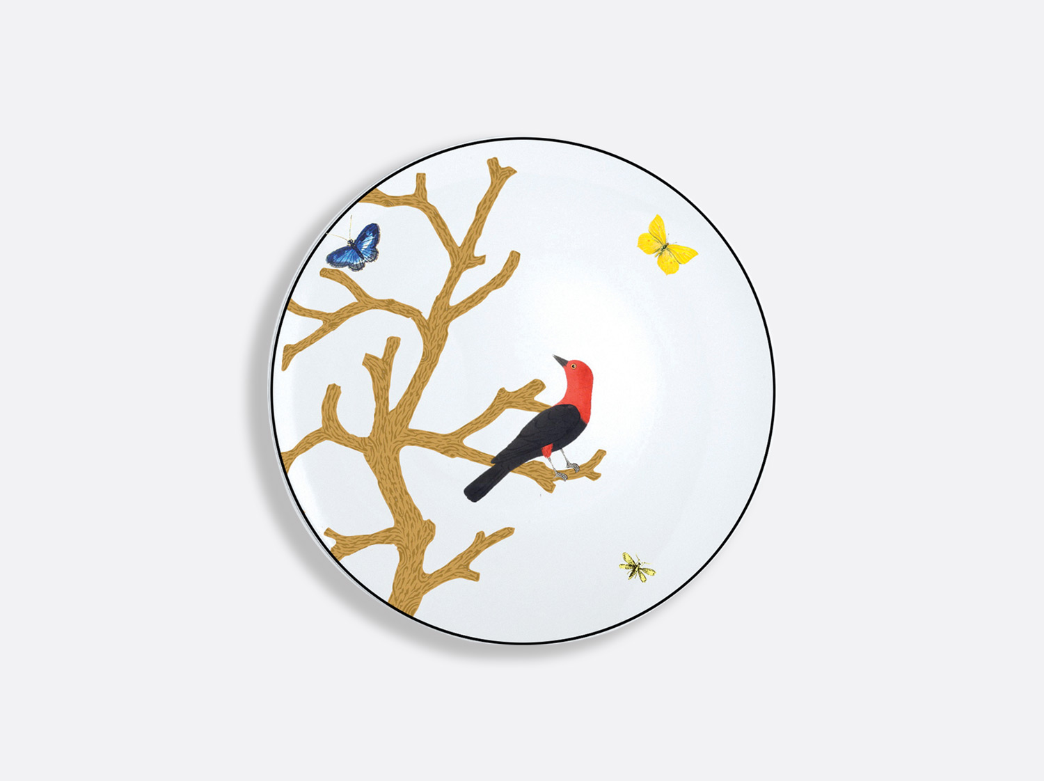 China Bread and butter plate 16 cm of the collection Aux oiseaux | Bernardaud