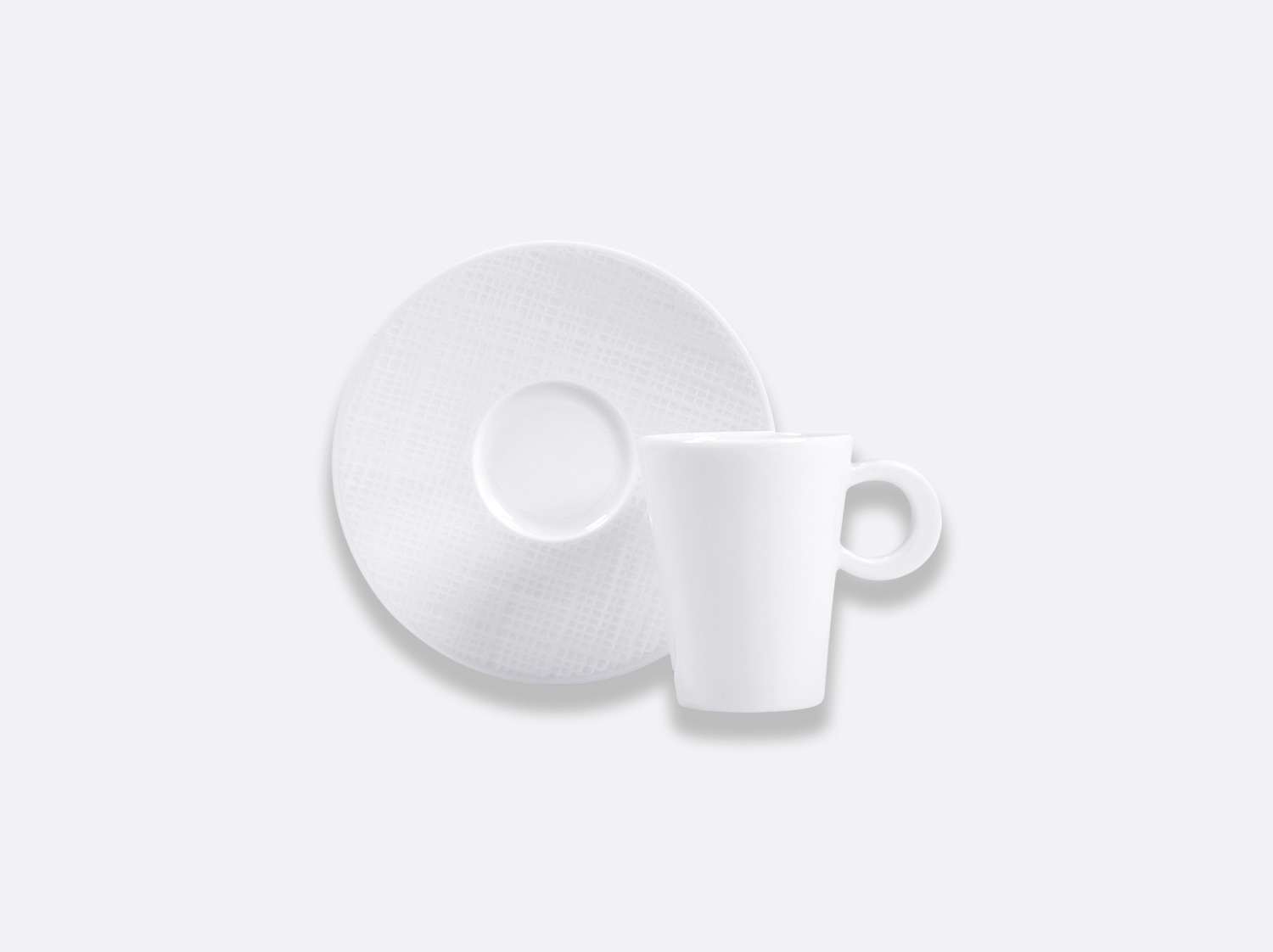 Tasse et soucoupe à café 6 cl en porcelaine de la collection Organza Bernardaud