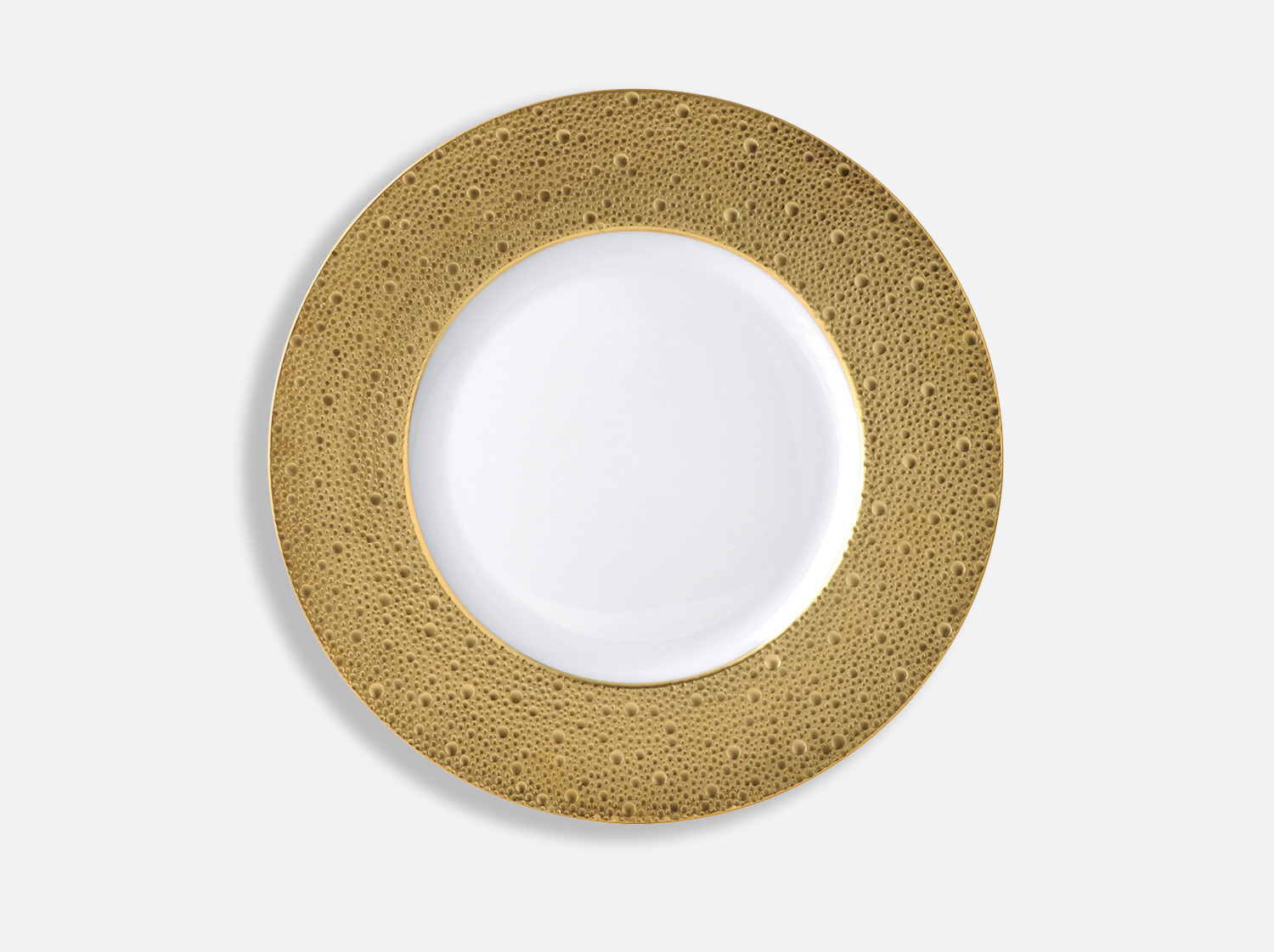 China Plate 29.5 cm of the collection Ecume gold | Bernardaud