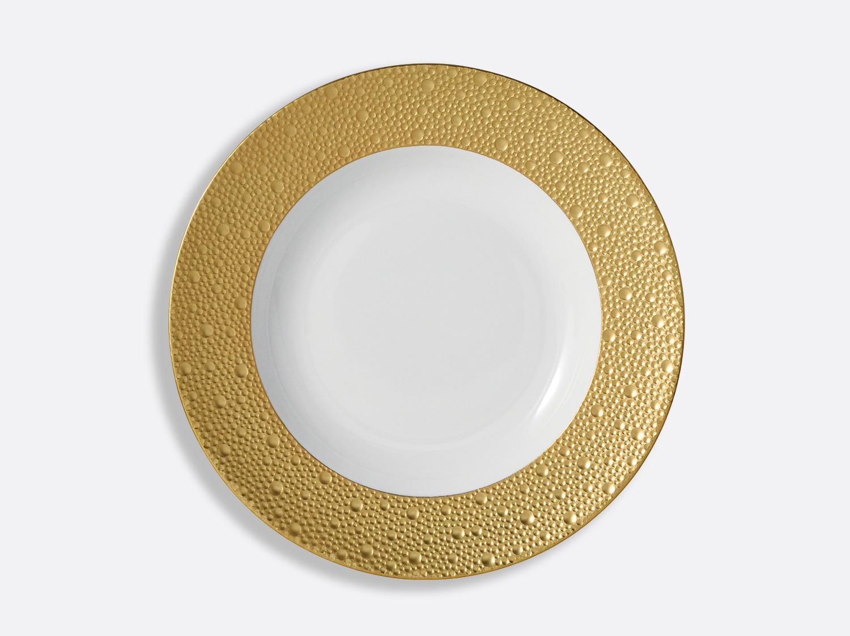 Assiette creuse à aile 29,5 cm en porcelaine de la collection Ecume or Bernardaud