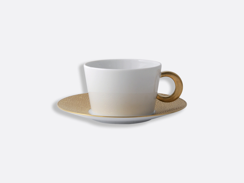 Tasse et soucoupe déjeuner 27 cl en porcelaine de la collection Ecume or Bernardaud