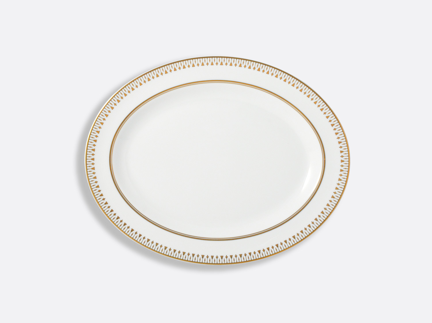"""China Oval platter 13"""" of the collection Soleil levant 
