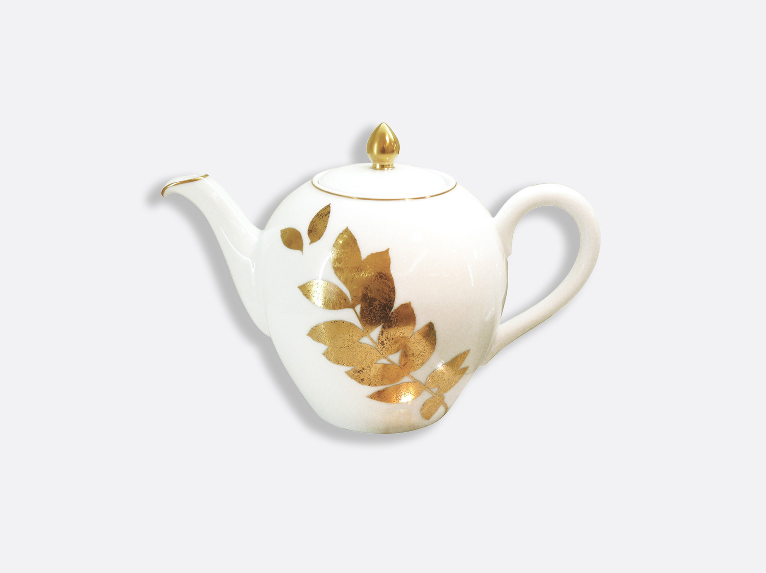 Théière 12 tasses 1,25 L en porcelaine de la collection Vegetal or Bernardaud