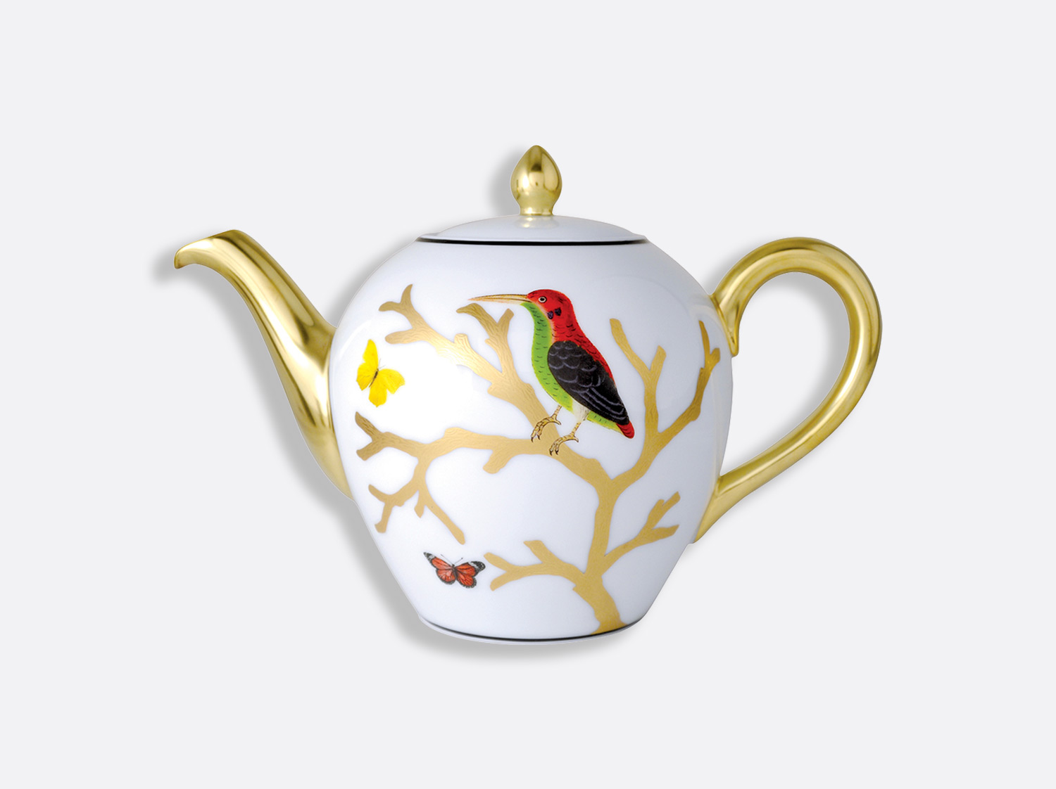 China Tea pot 12 cups 75 cl of the collection Aux oiseaux | Bernardaud