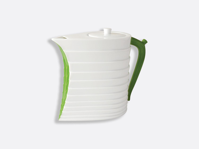 Théière verte 8 tasses 90 cl en porcelaine de la collection Foglia Bernardaud