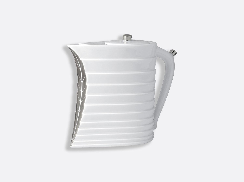 Théière 8 tasses 90 cl en porcelaine de la collection Foglia platine Bernardaud