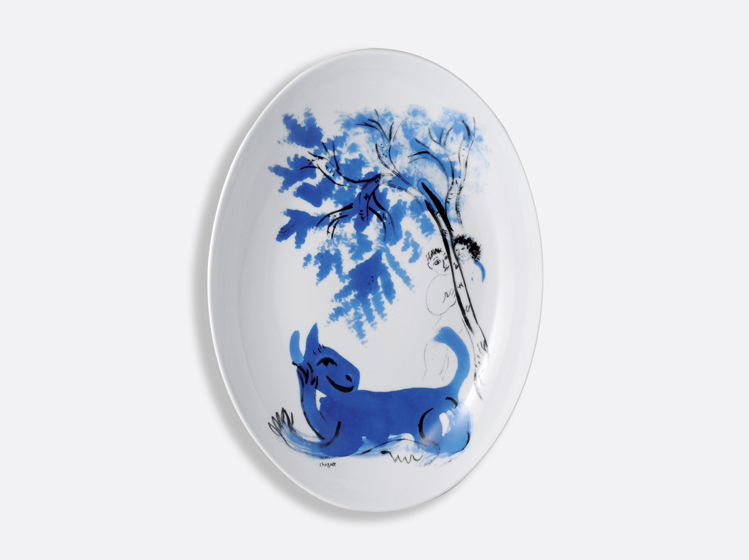 "Plat ovale 39 x 28 cm ""L'Animal vert"" 1941 en porcelaine de la collection Collect chagall l animal vert 1941 Bernardaud"