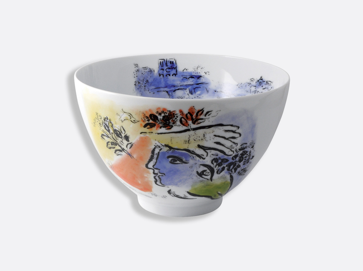 "Saladier haut ""Le ciel bleu"" 27cm en porcelaine de la collection Collect chagall le ciel bleu 1964 Bernardaud"