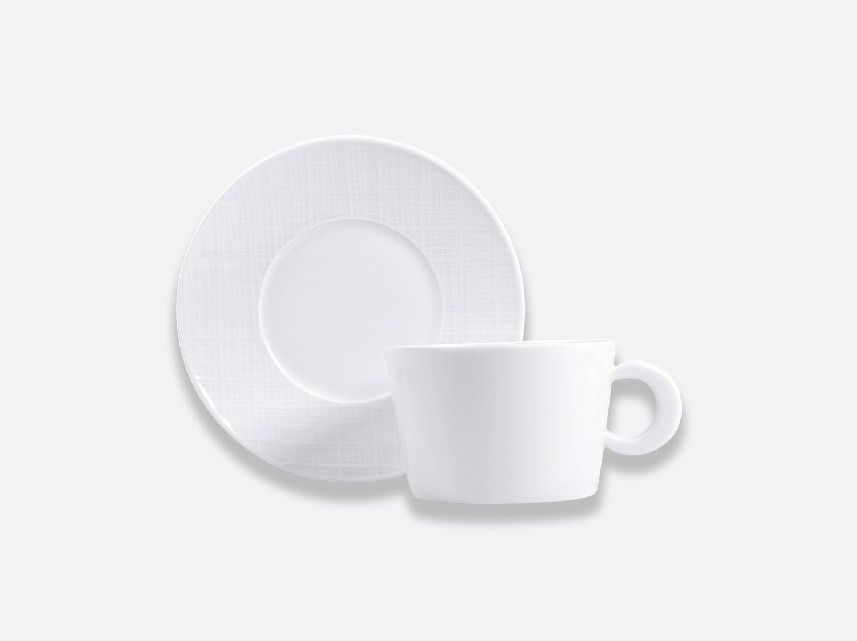 Tasse et soucoupe déjeuner 27 cl en porcelaine de la collection Organza Bernardaud