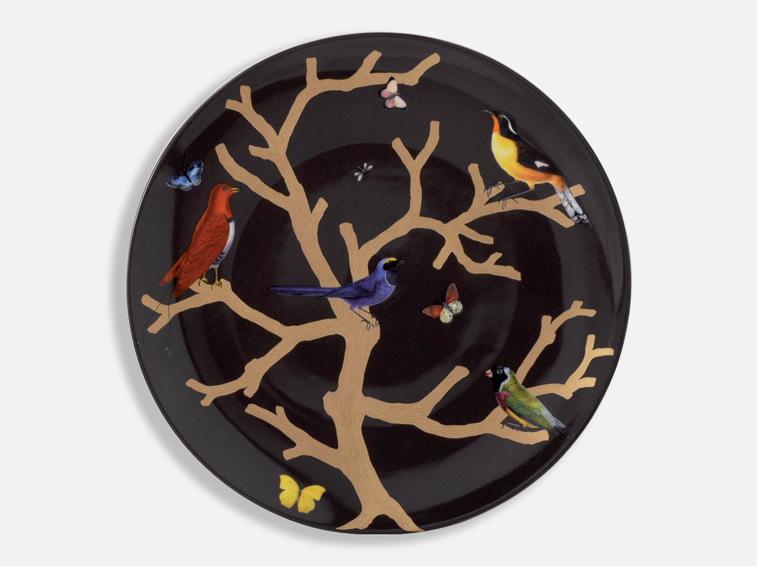 China Coupe plate 36 cm of the collection Aux oiseaux | Bernardaud