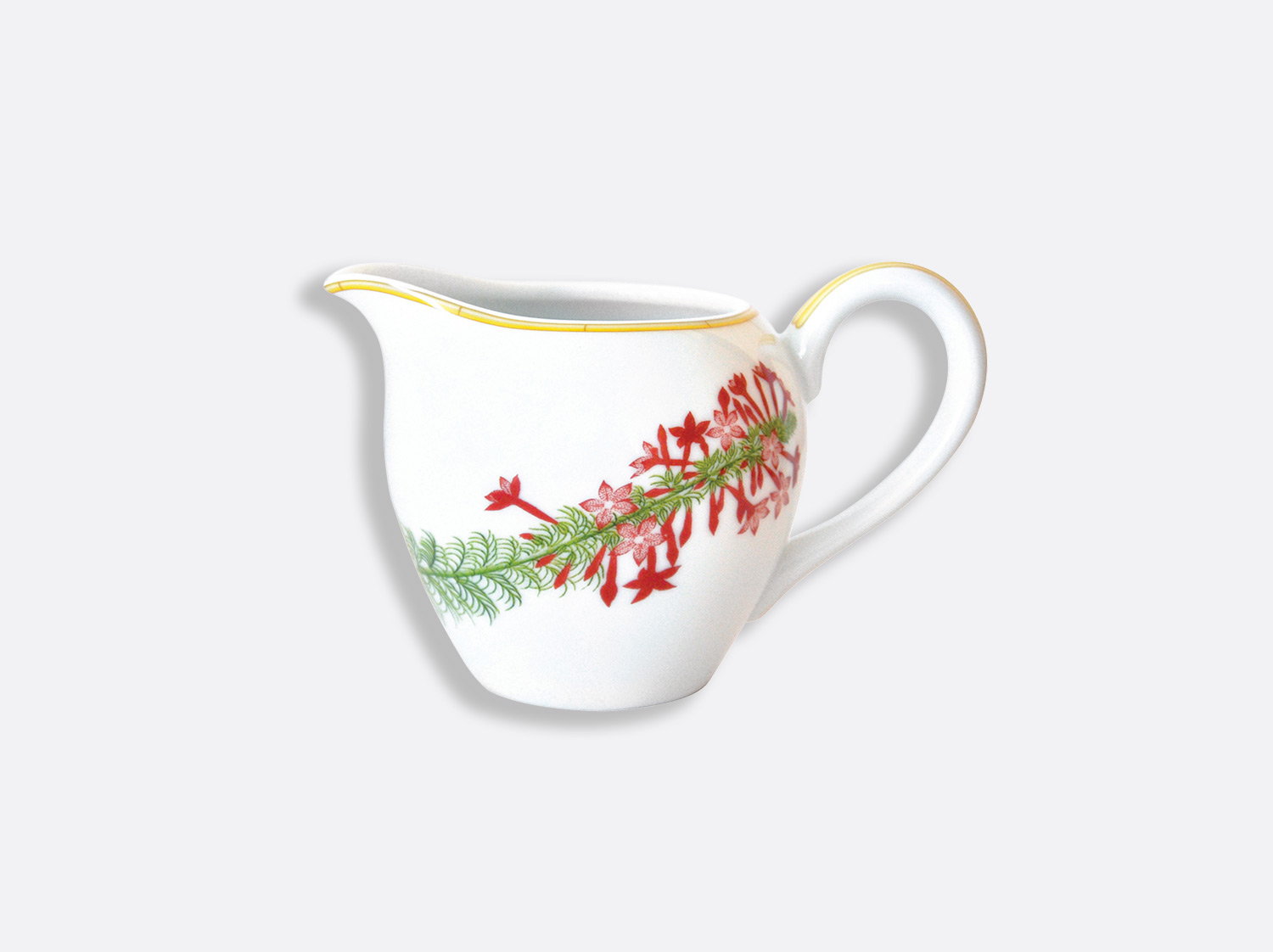 Crémier 12 tasses 30 cl en porcelaine de la collection Jardin indien Bernardaud