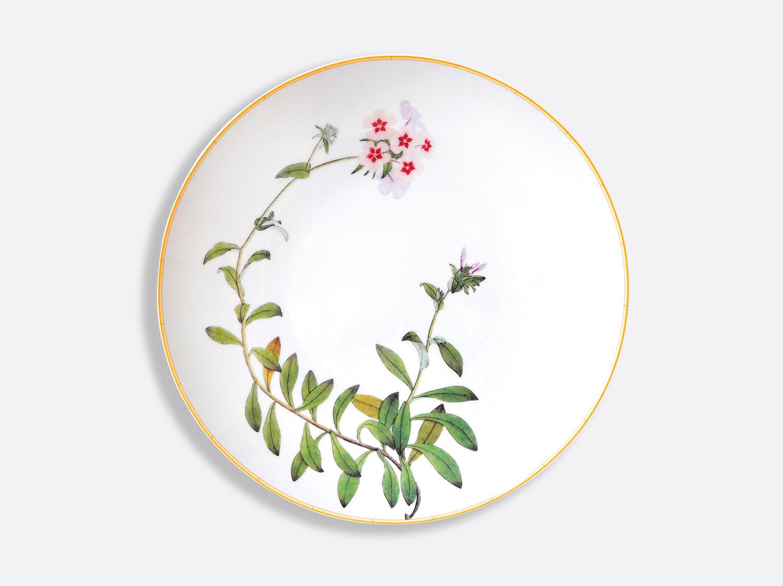 Plat rond creux 29 cm en porcelaine de la collection Jardin indien Bernardaud