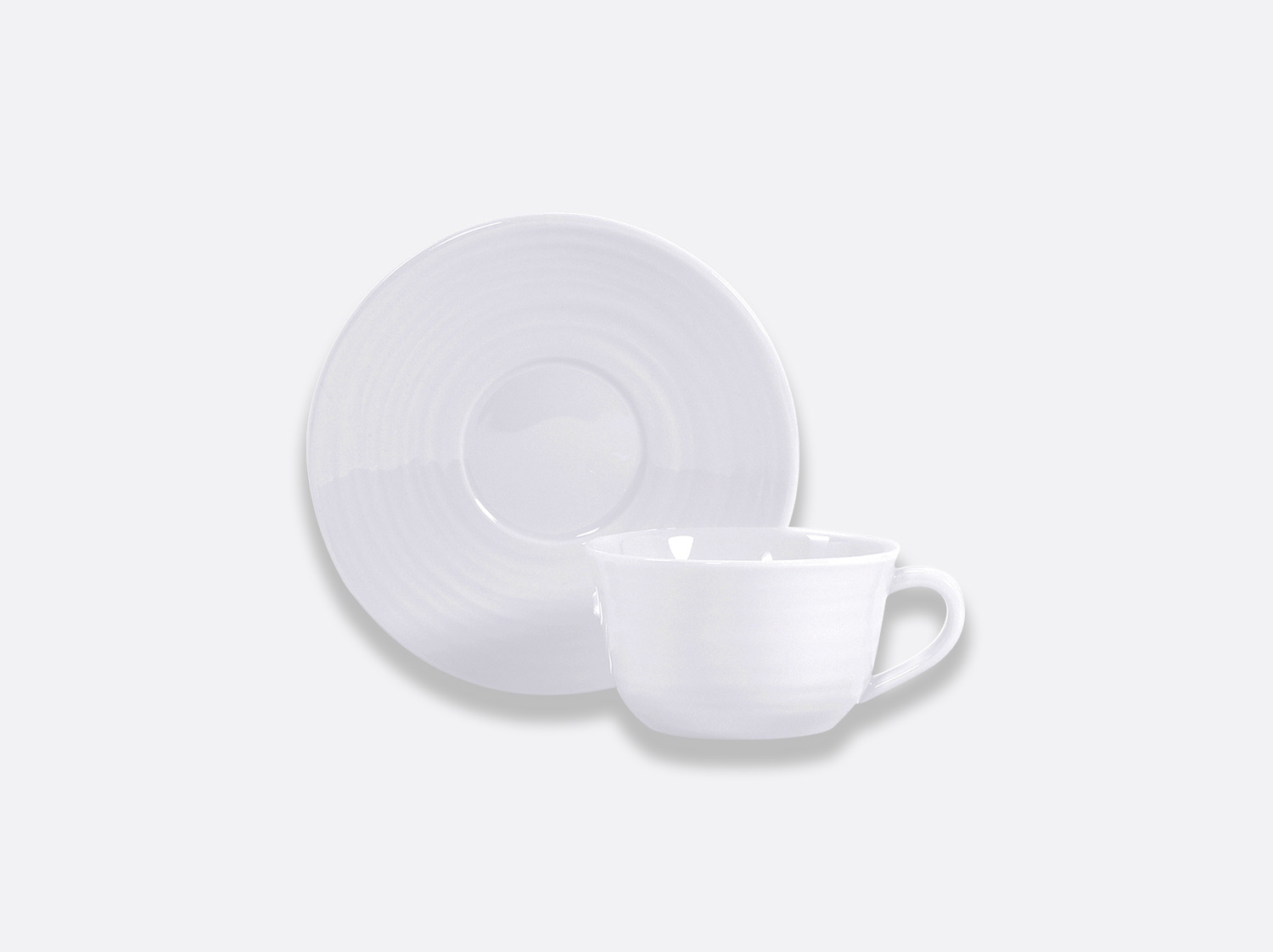 Tasse et soucoupe à thé 20 cl en porcelaine de la collection Origine Bernardaud