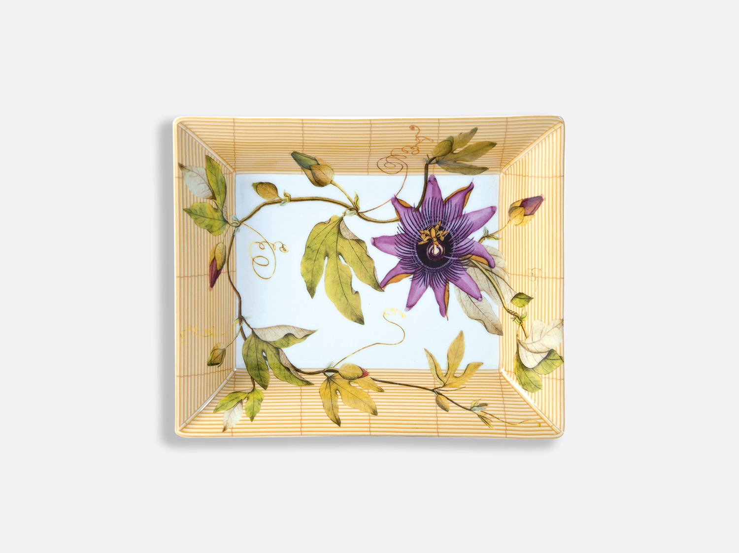 Vide-poches 20 x 16 cm en porcelaine de la collection Jardin indien Bernardaud
