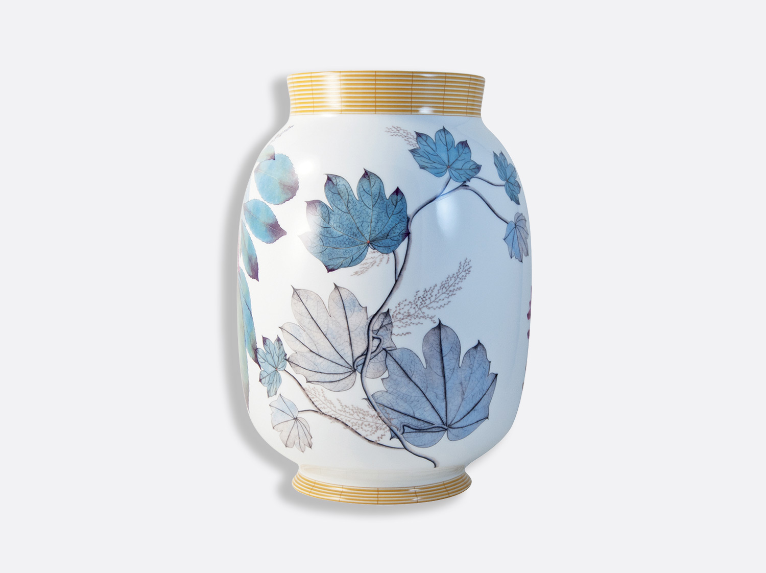 Vase toscan H. 33,5 cm en porcelaine de la collection Jardin indien Bernardaud