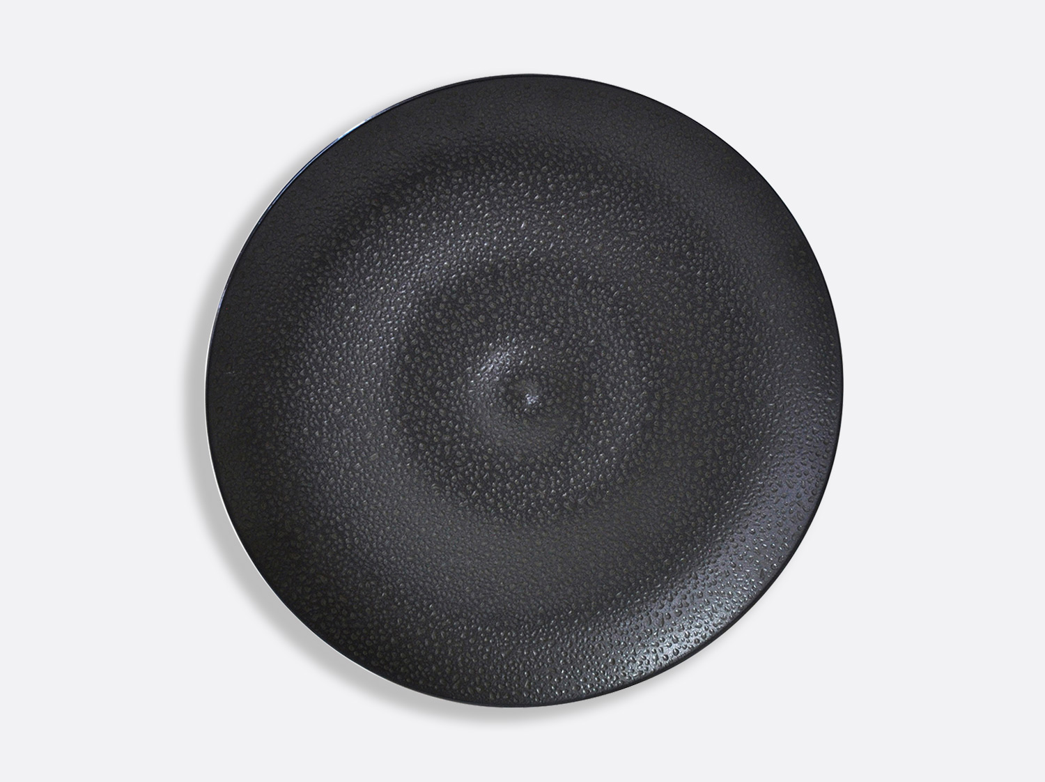 "China Plate 12.2"" of the collection Bulle sable noir 