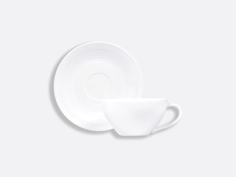 Tasse et soucoupe thé 15 cl en porcelaine de la collection Neve Bernardaud