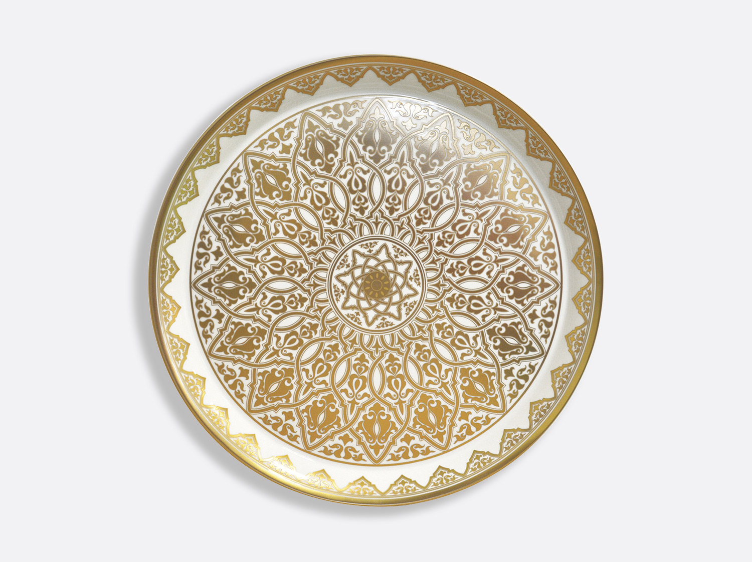 Plateau rond 48 cm en porcelaine de la collection Venise Bernardaud
