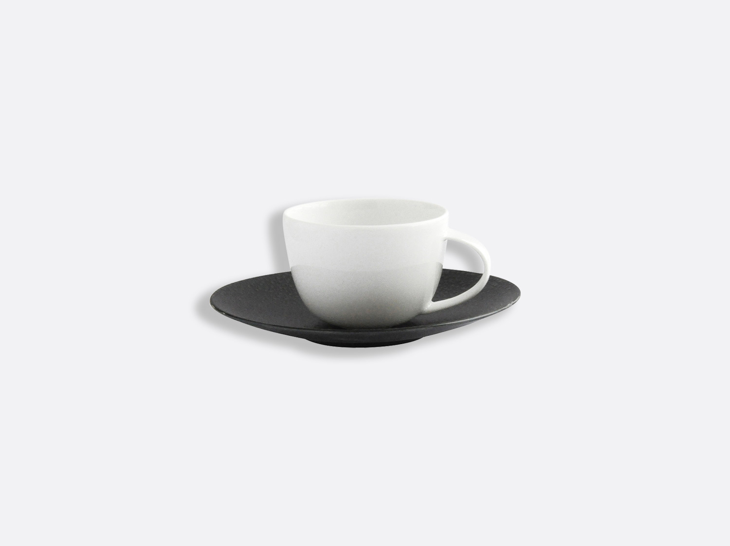 China Coffee cup and saucer 7 cl of the collection Bulle sable noir | Bernardaud