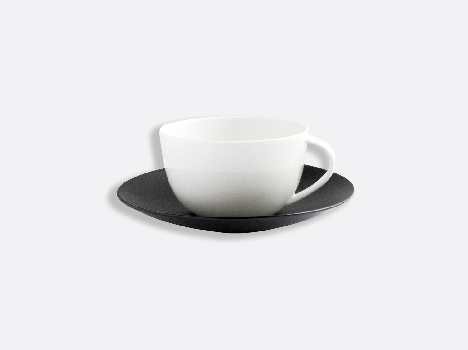 China Teacup and saucer 20 cl of the collection Bulle sable noir | Bernardaud