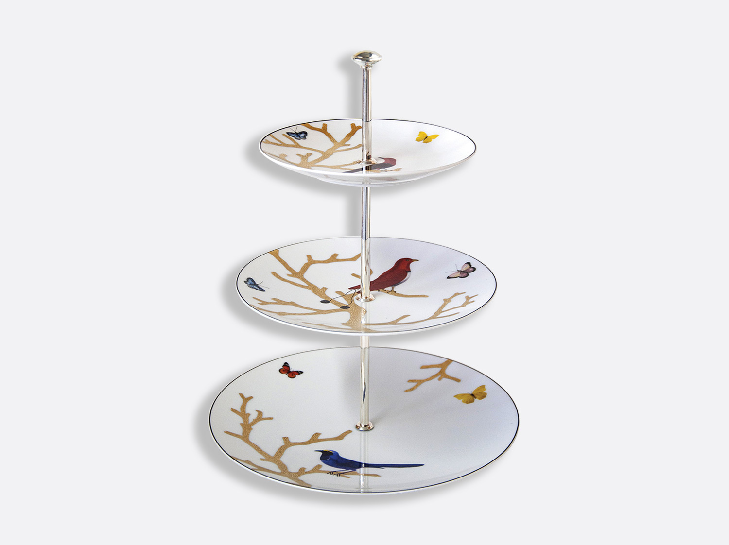 China 3 tier tray of the collection Aux oiseaux | Bernardaud