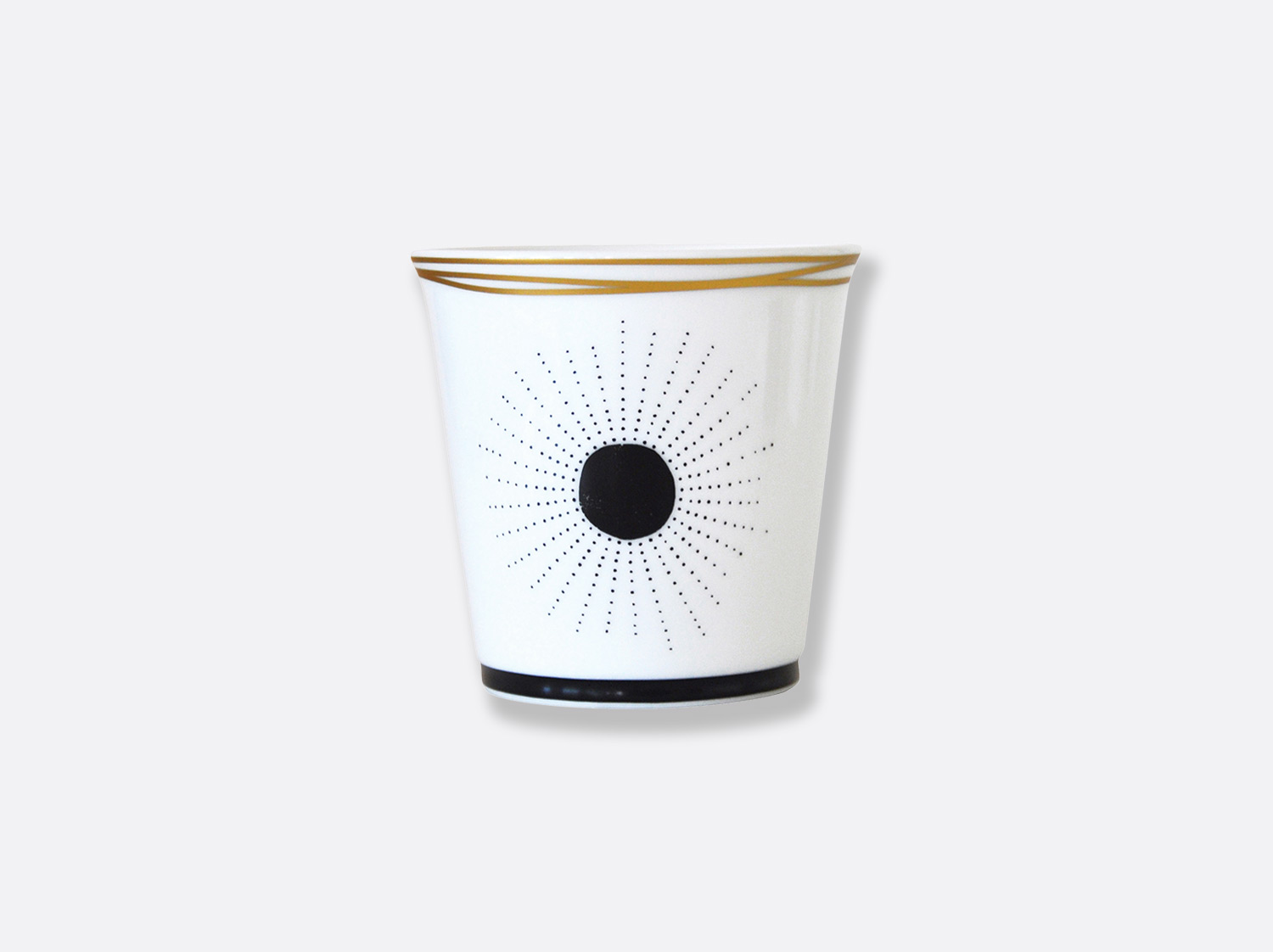 Pot 9 cm + bougie parfumée 200g en porcelaine de la collection Aboro Bernardaud