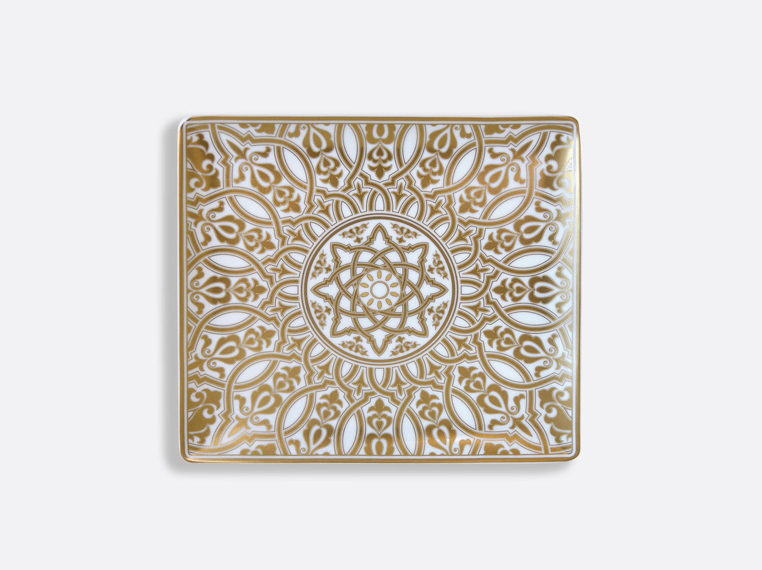Plateau rectangulaire 22 x 19,5 cm en porcelaine de la collection Venise Bernardaud