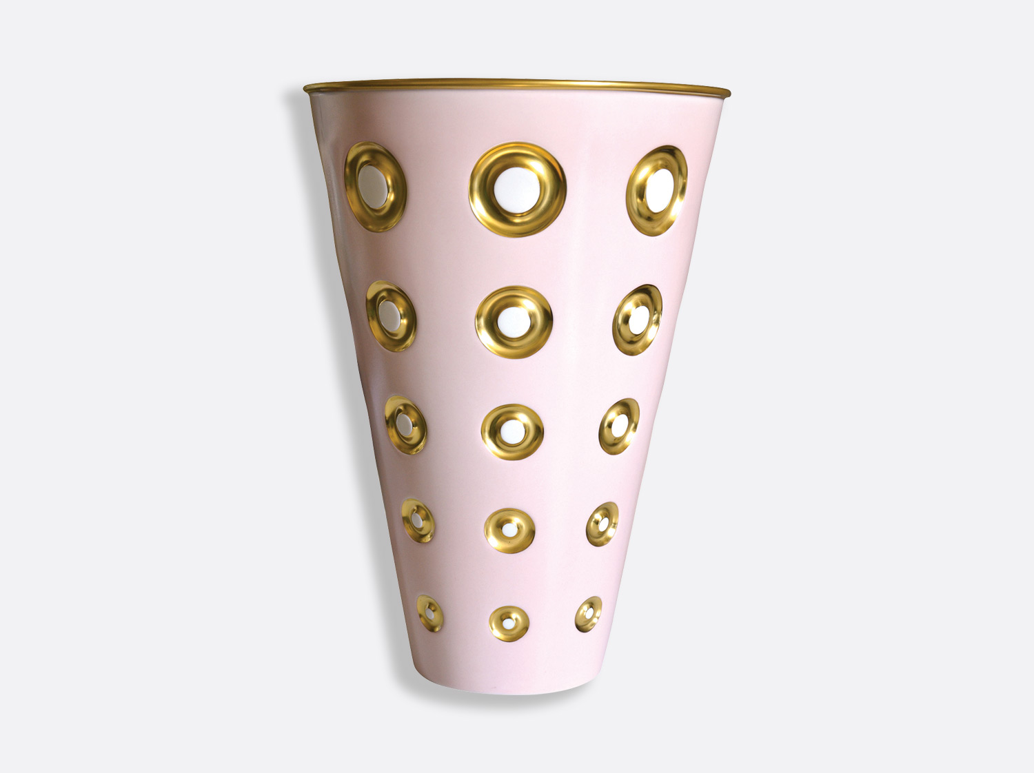 Vase H. 37,5 cm en porcelaine de la collection Panarea rose Bernardaud