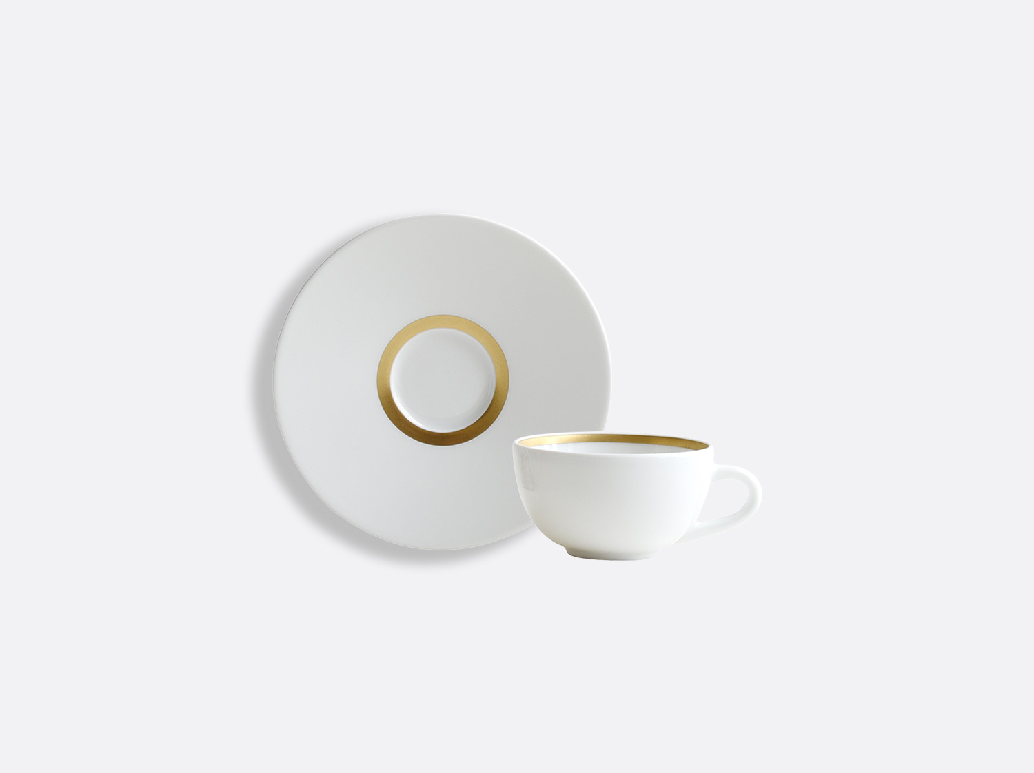 China Coffee cup and saucer of the collection Cronos or | Bernardaud